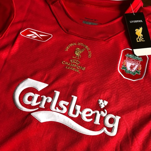 new product 04742 8b62d 2005 Liverpool Home Jersey NWT